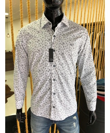 Camisa ML Essencial ESTAMPADA (BRANCA) - Ogochi
